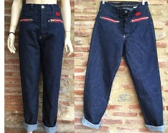des années 1990 JP GAULTIER Jeans taille haute Jeans     pantalon vintage  Jean Paul Gaultier Paris     taille eu 40 -31 2762aac7a97b