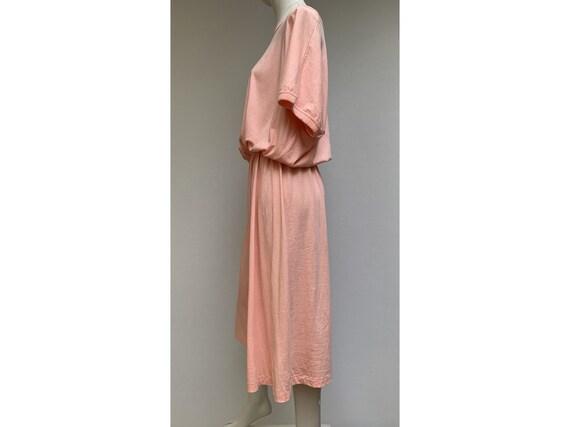 80s cotton oversized DRESS summer dress midi leng… - image 8