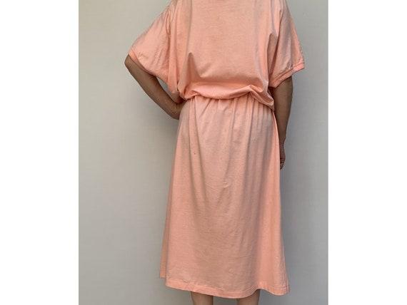 80s cotton oversized DRESS summer dress midi leng… - image 3