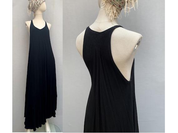 90s vintage black MAXI dress SUMMER maxi dress bea