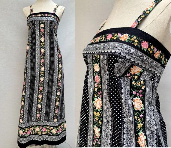 vintage maxi floral Dress // Mod maxi dress // 60s
