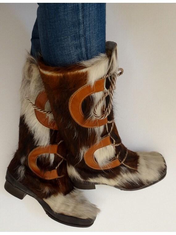 vintage 60s yeti boots // 60s snow boots // fur l… - image 2