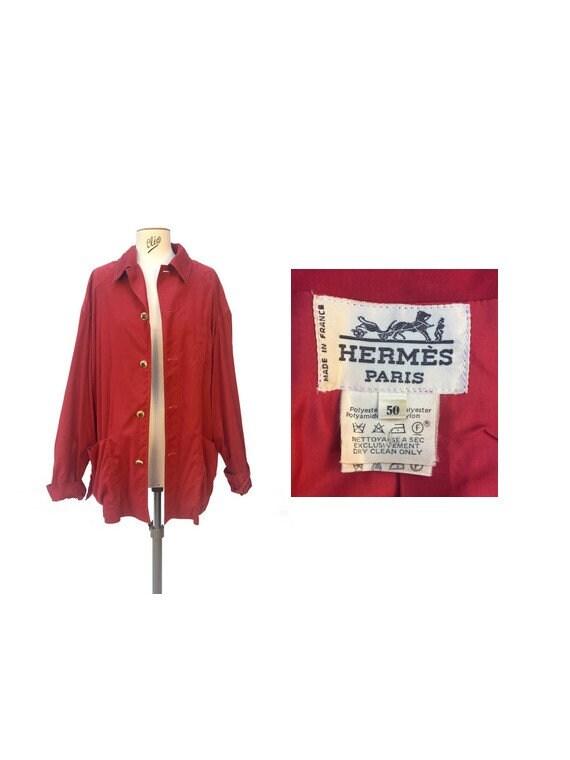 vintage HERMES // 80s HERMES Jacket // hermes coat