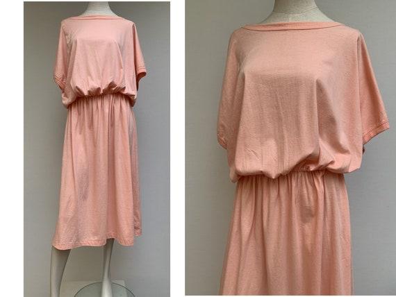 80s cotton oversized DRESS summer dress midi leng… - image 7