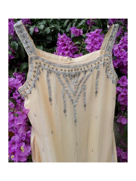 INDIAN vintage 70s silk Boho Dress  hippie chic dr