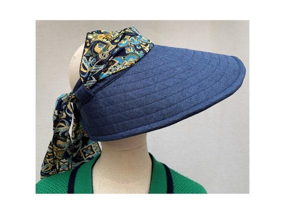 80s vintage large Visor  Sun HAT / visor cap / 80s