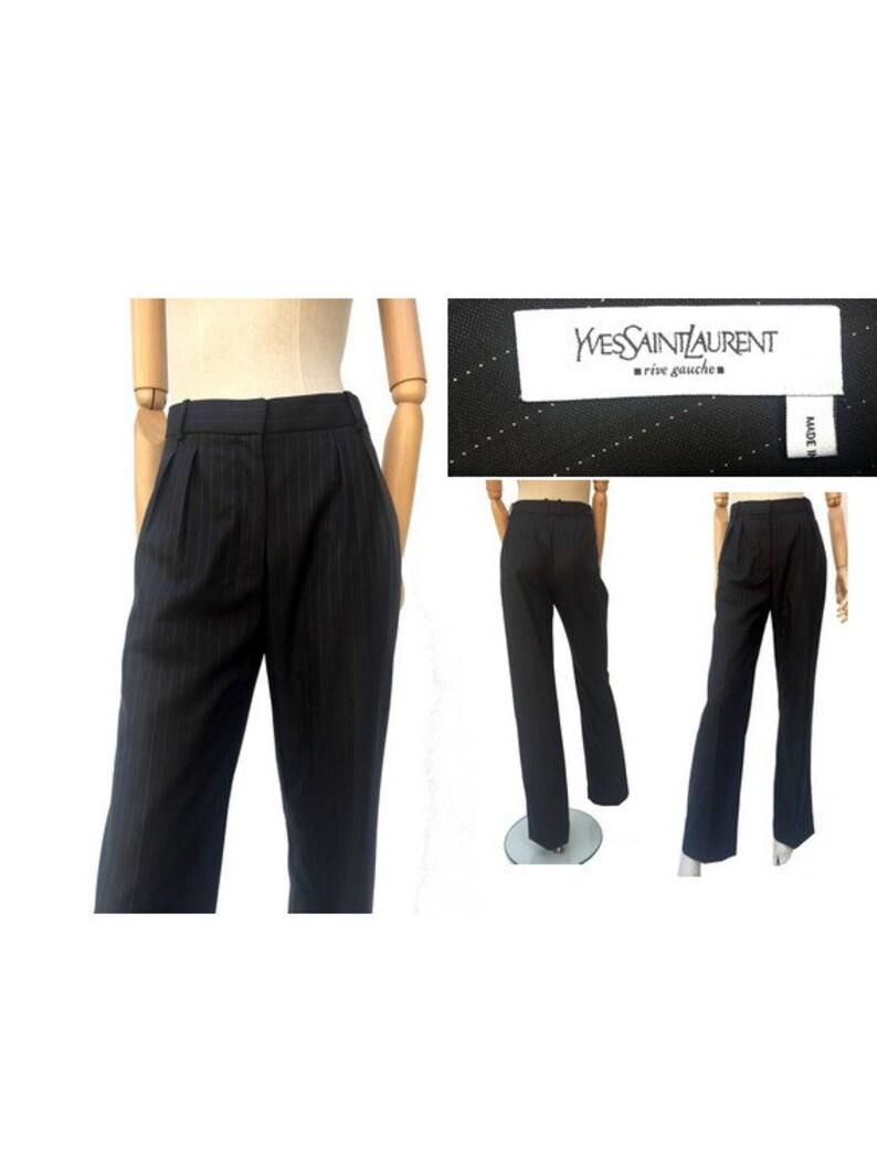 11246f29036 1980s YSL Rive Gauche Wool Silk PANTS // size eu 40 uk12-us8 | Etsy