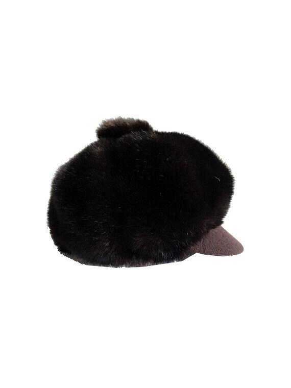 vintage 60s cap // faux fur cap // mod fur cap //… - image 1