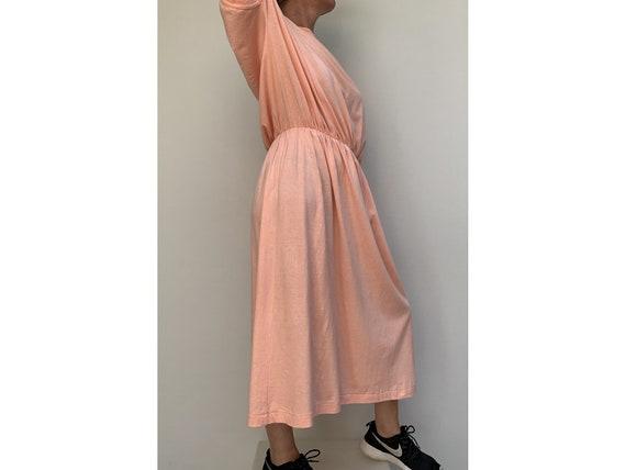 80s cotton oversized DRESS summer dress midi leng… - image 4