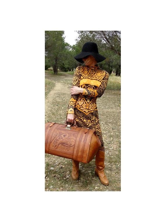 1970s LEONARD dress psychedelic dress  knit wool D