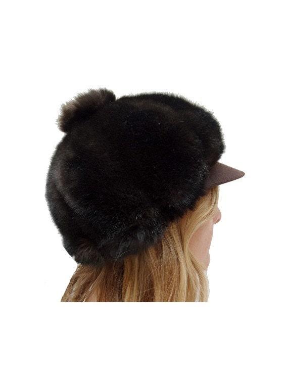vintage 60s cap // faux fur cap // mod fur cap //… - image 2