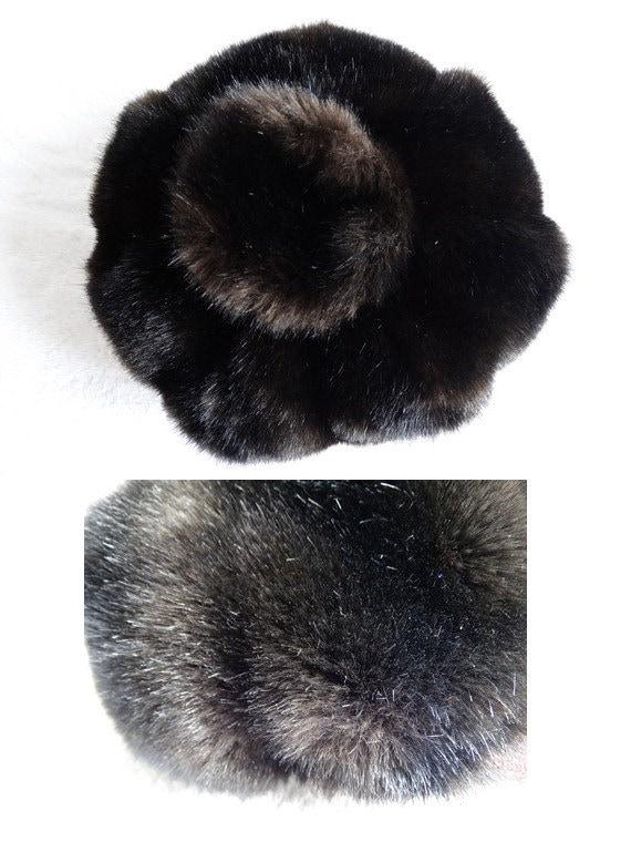 vintage 60s cap // faux fur cap // mod fur cap //… - image 3