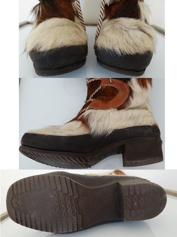 vintage 60s yeti boots // 60s snow boots // fur l… - image 4