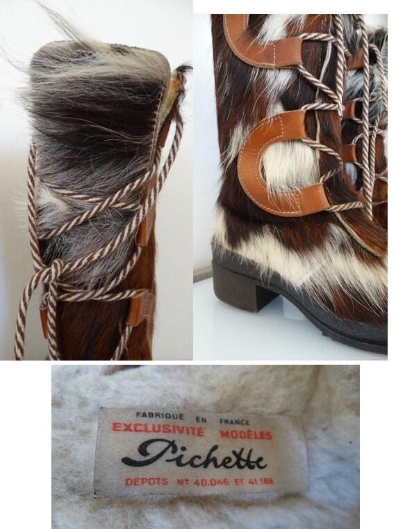 vintage 60s yeti boots // 60s snow boots // fur l… - image 3