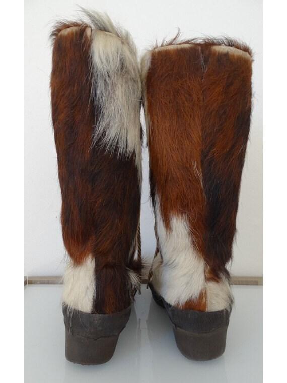 vintage 60s yeti boots // 60s snow boots // fur l… - image 5