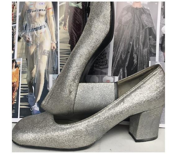 1960s MOD silver Lurex 1960s silver Metallic LUREX