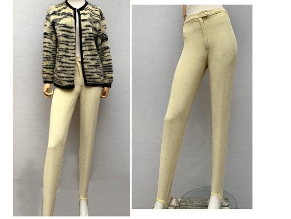 vintage 60s yellow corduroy  slim pants // 60s ski
