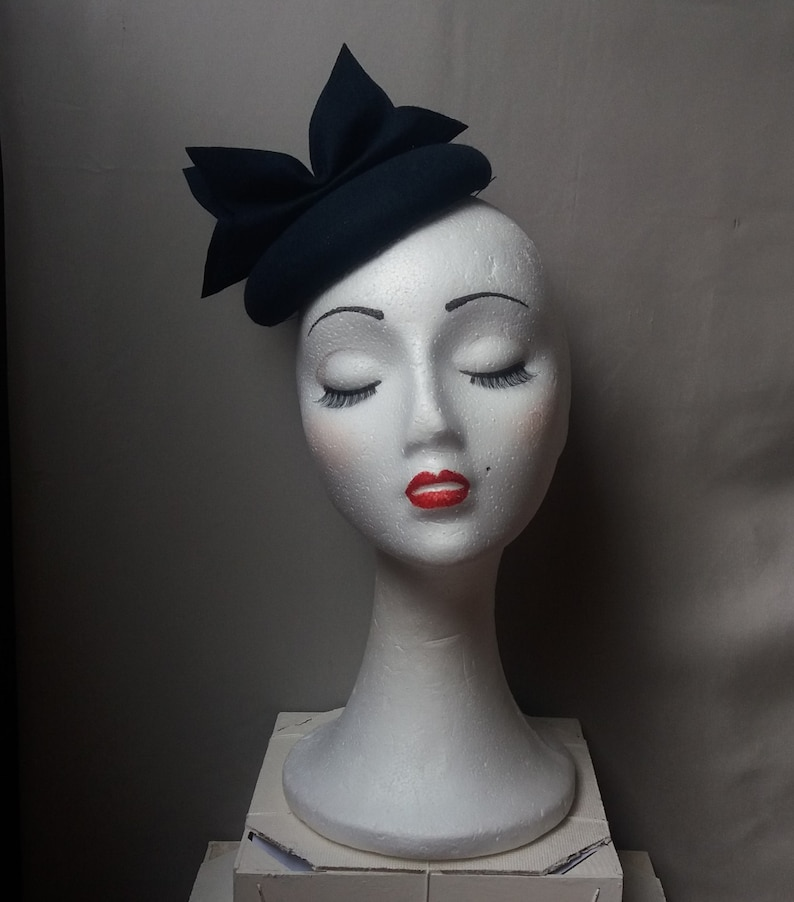 navy blue felt fascinator hatnavy hat felt fascinator hat  c02d524a36e