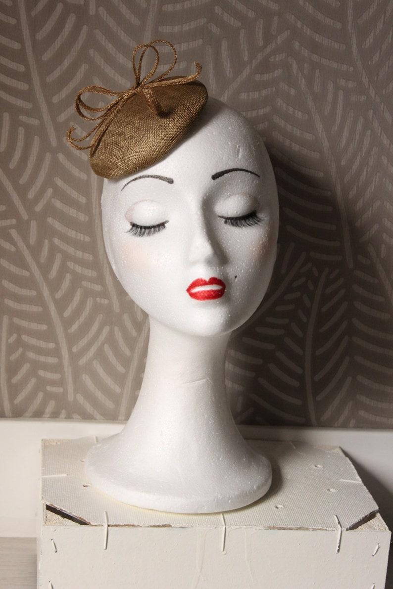 7c84ee68 Gold Fascinator Hat Mini Gold HatGold Headpiece gold | Etsy