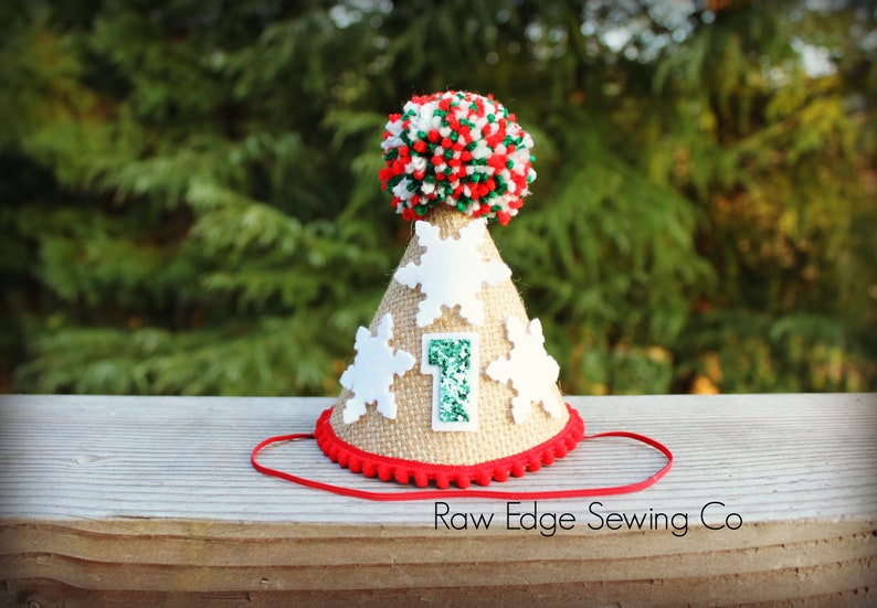 Surprising Christmas Hat First Birthday Party Snowflake Hat Photo Cake Etsy Funny Birthday Cards Online Fluifree Goldxyz