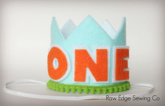 BOY Crown Birthday Party Hat Cake Smash Headband Girl Custom First