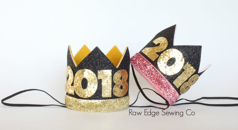 New Years Crowns Celebration Birthday Party Hat Blush Pink