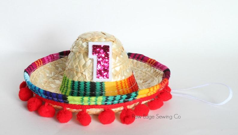 UNO SOMBRERO HAT Birthday Party Mini Sombrero Cinco De Mayo Fiesta First Taco Bout A Party Custom Boy Girl Baby Dog