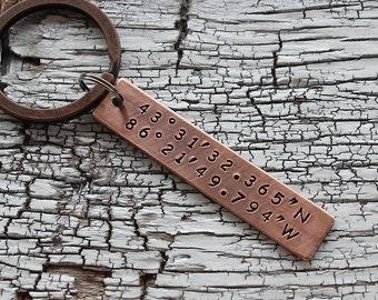coordinate keychain, coordinate keychain Latitude longitude, coordinate keychain Custom, coordinate keychain Personalized, coordinate