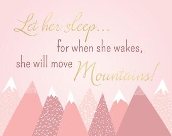 She will move mountains - Nursery Art