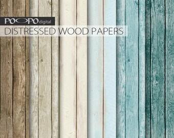 Turquoise Wood Digital Background Wooden Paper Blue Aqua Mint Wedding Beach Rustic Marriage Texture