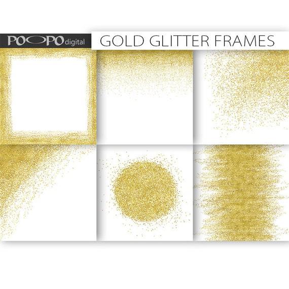 Gold frames borders clipart clip art digital paper template etsy image 0 maxwellsz