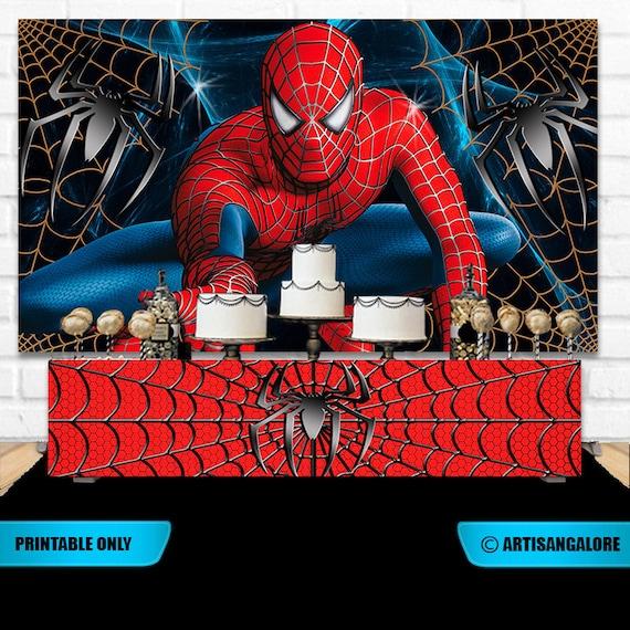 Vente Danniversaire Spiderman Toile De Fond Toile De Fond Etsy