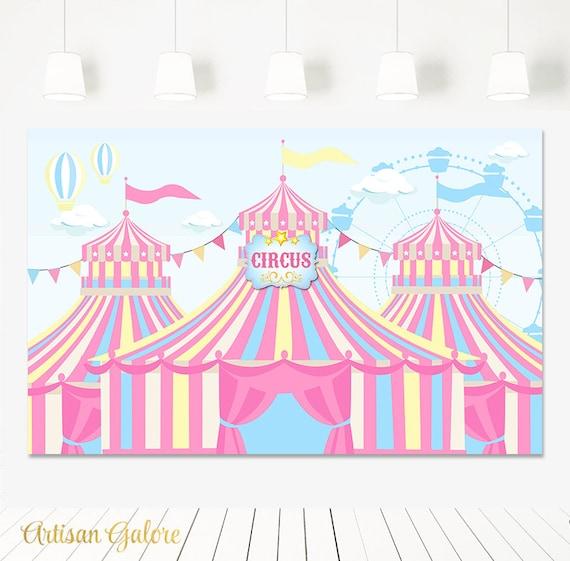 Verkauf Karneval Geburtstag Hintergrund Zirkus Hintergrund Etsy