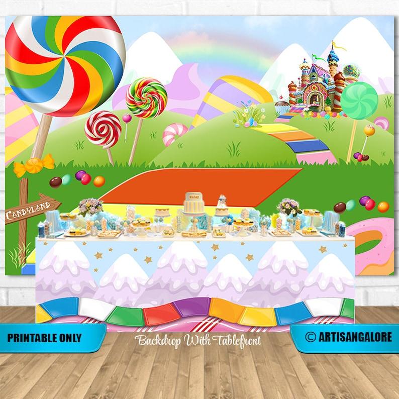 Toile de fond candyland - Créateur ETSY : ArtisanGalore