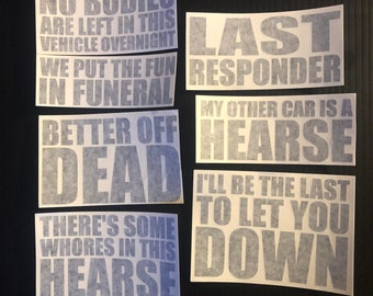 Hearse Sticker Pack - 1