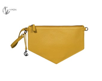Leather Clutch Yellow