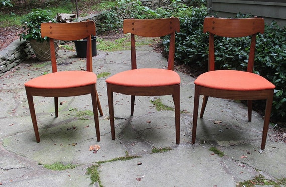 Amazing Mid Century Modern Set Of 3 Drexel Declaration Dining Chairs Excellent Condition Dailytribune Chair Design For Home Dailytribuneorg