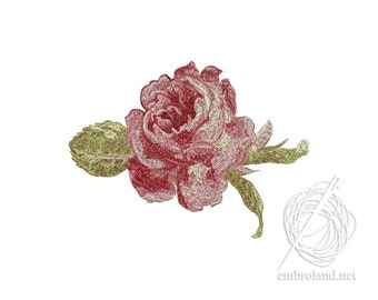 Rose Embroidery Design - Flowers embroidery pattern - Sakura embroidery file - Instant Download