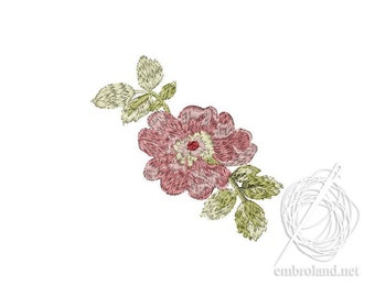 Flower Embroidery Design - Flowers embroidery pattern - Sakura embroidery file - Instant Download