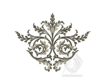 Decor Embroidery Design - Ornament Embroidery File - Ornamental Pattern for Machine Embroidery