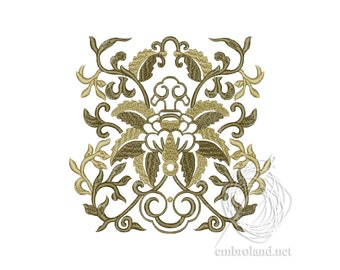 Oriental Ornament Embroidery Design