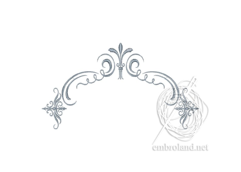 Arch Embroidery Design - Border embroidery design - Corner Ornament Pattern  Machine embroidery design Frame Embroidery Pattern