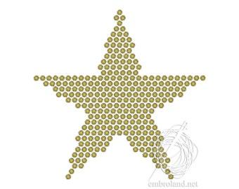 Star Embroidery Designs - Gold Star Machine  Embroidery Design - Christmas Embroidery - New Year embroidery file