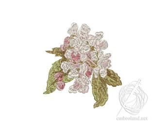 Flowers Embroidery Design - Flowers embroidery pattern - Sakura embroidery file - Instant Download