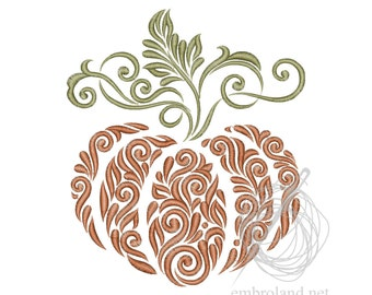 Pumpkin Machine Embroidery Design - Halloween Embroidery Design - Thanksgiving Embroidery Pattern - Design for Embroidery  Machine