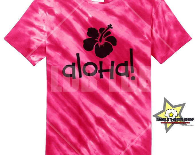 Aloha Flower Hawaiian Tie Die T-Shirt