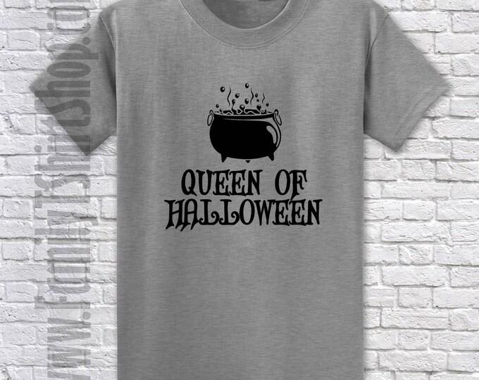 Queen of Halloween Cauldron - Halloween T-Shirt