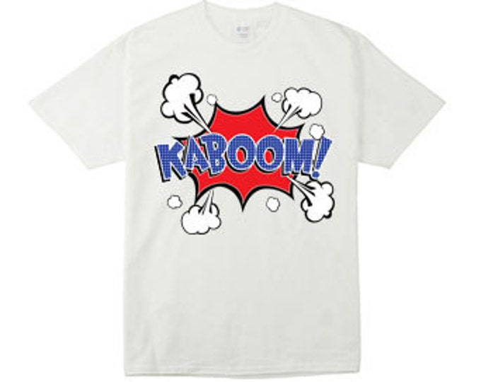 KaBoom Cartoon Action Bubble T-Shirts for the Whole Family