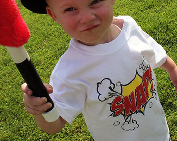 Snap Action Word Bubble T-Shirts for the Whole Family