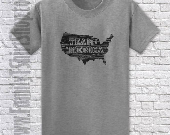 USA Map- Team Merica T-shirt